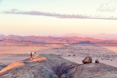 Abendlicht über der Namib