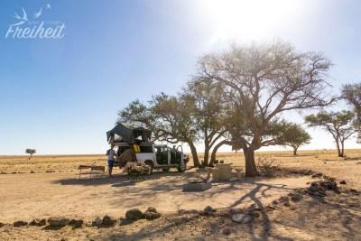 Angekommen in Ganab - dem letzten Stellplatz unserer Namibia Reise