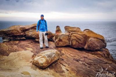 Kleiner Aussichtsberg am Kap (und was für hübsche Felsen!)