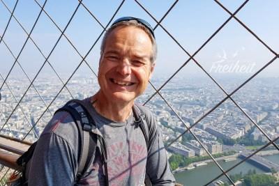 Früher hätte Carsten mit seiner Höhenangst nie hier oben stehen können