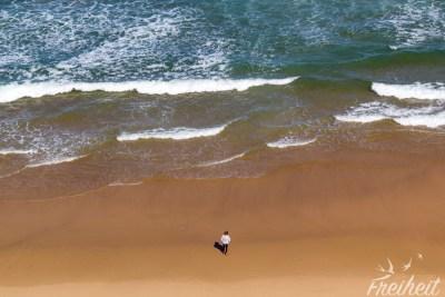 Einsamer Strandbesucher