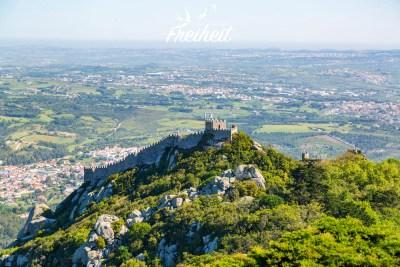 Blick vom Palast zur maurischen Burg