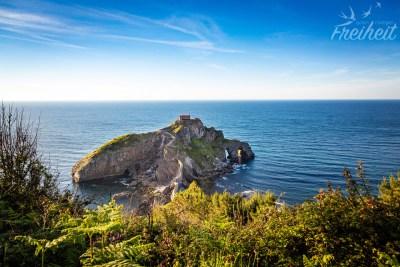 Die kleine Felseninsel Gaztelugatxe