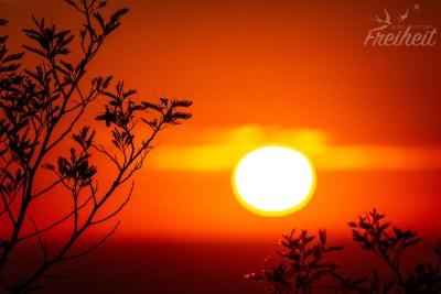 Sonnenuntergang vom Parkplatz aus