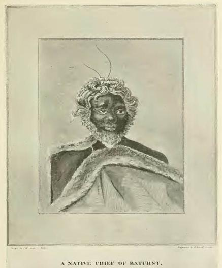 A Native Chief of Bathurst (From 'Oxley's Explorations'.)
