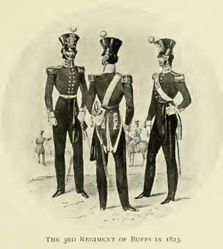 The 3rd Regiment of Buffs in 1823.