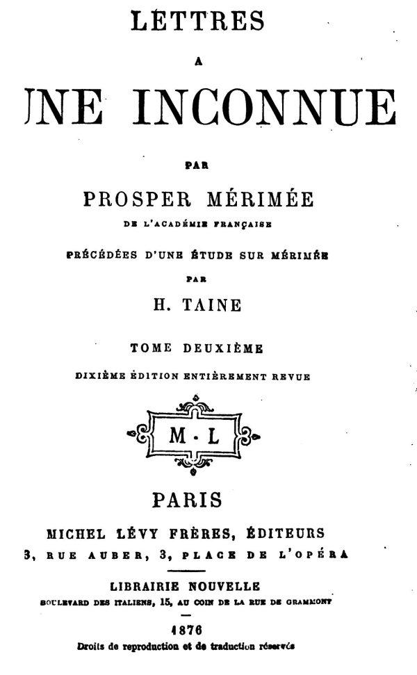 Sur Le Lac Majeur En 6 Lettres : majeur, lettres, Project, Gutenberg, EBook, Lettres, Inconnue,, Premier, Prosper, Mérimée.
