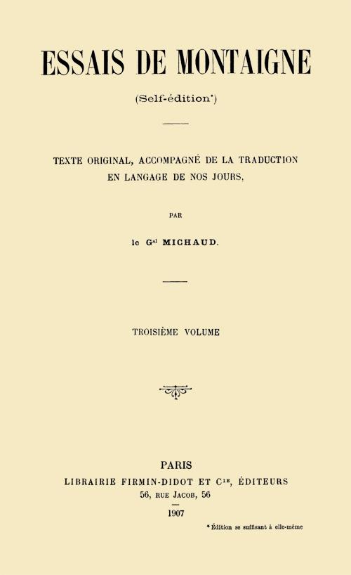 Pallas Le Faiseur De Silence : pallas, faiseur, silence, Project, Gutenberg, EBook, Essais, Montaigne,, Volume, Montaigne, Général, Michaud