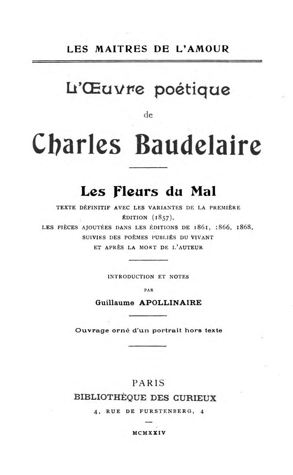 Truc Comment Anéantir Les Ronces : comment, anéantir, ronces, Project, Gutenberg, EBook, L'Oeuvre, Poètique, Charles, Baudelaire,, Baudelaire.