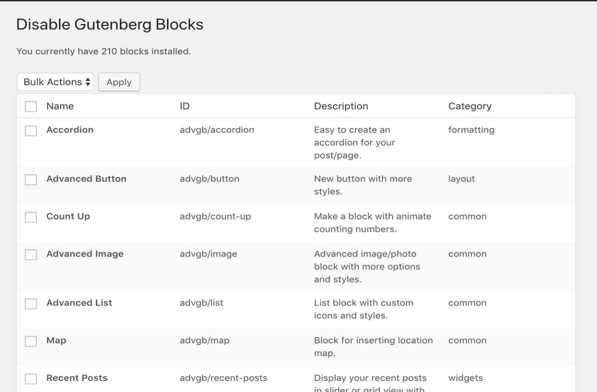 How to disable any Gutenberg blocks? - Gutenberg Hub