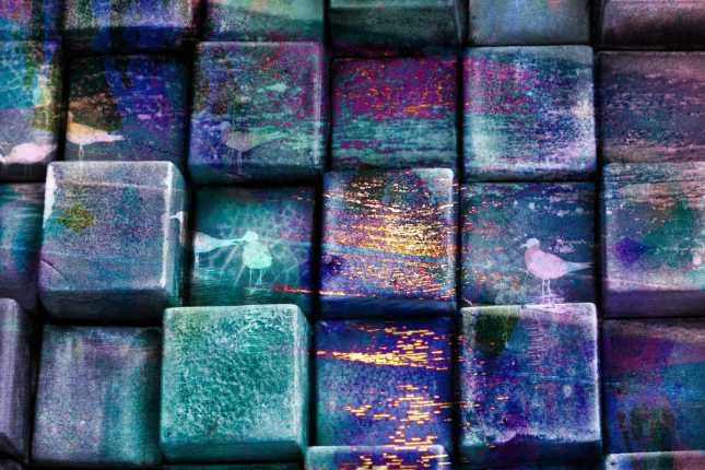Purple Blocks by Canva