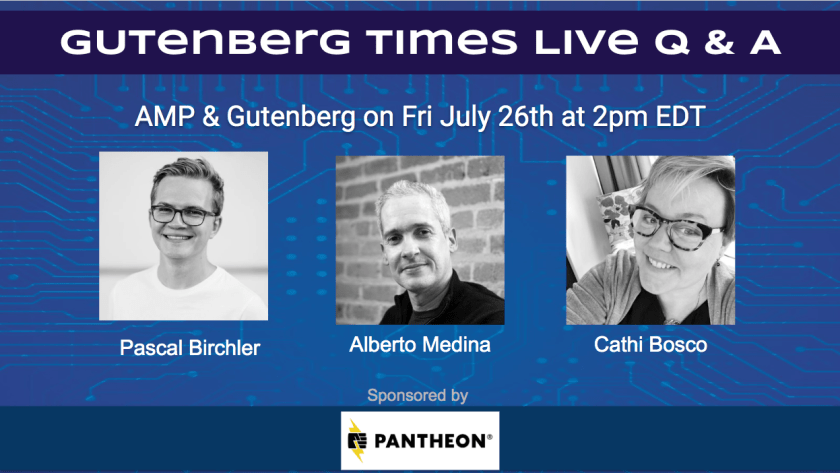 Cover: Gutenberg Times Live Q & A w/ speakers and sponsors
