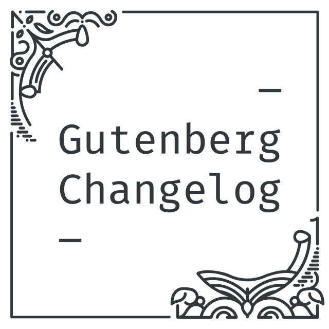Gutenberg Changelog logo by Mark Uraine