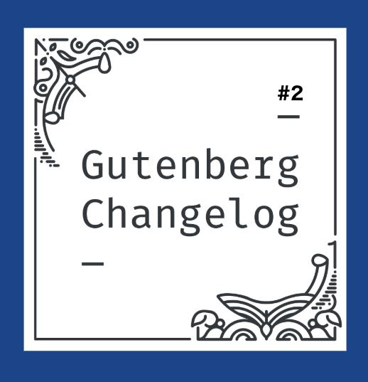 cover: Gutenberg Changelog Logo