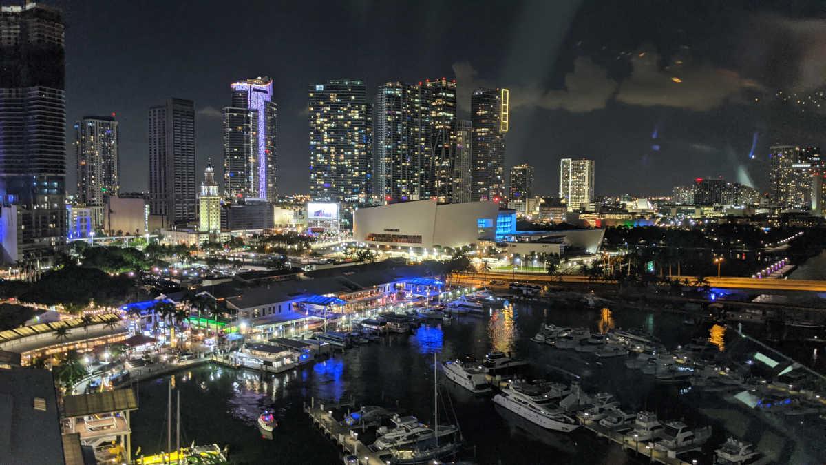 Miami at Night - Photo by Birgit Pauli-Haack