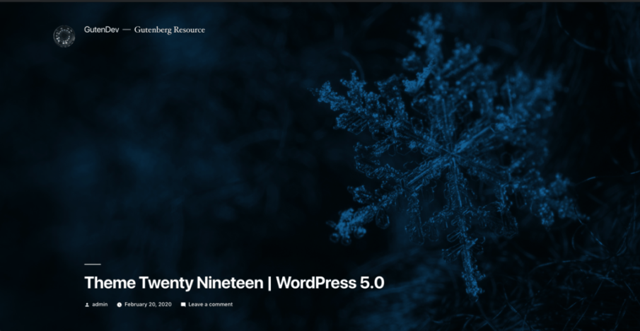 Theme Twenty Nineteen; WordPress 5.0; WordPress 5 new download
