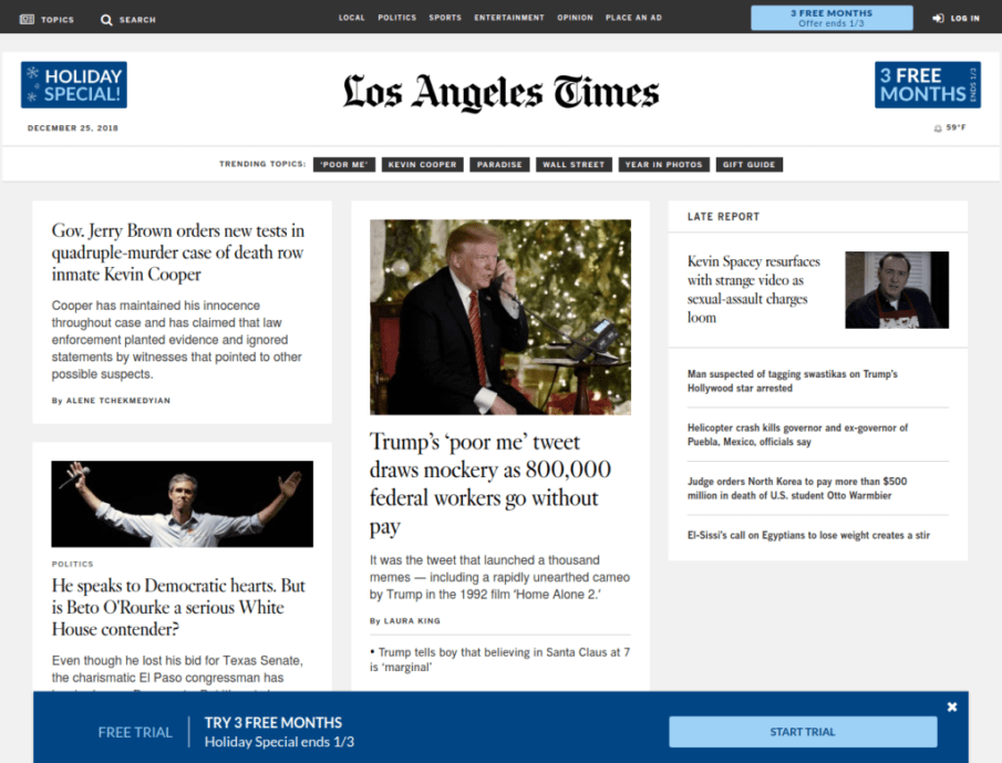 Los Angeles Times | Gutendev | WordPress websites with Gutendev | New WordPress | WordPress Tutorials | Plugins WordPress
