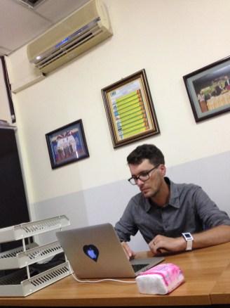 Büro in Kambodscha