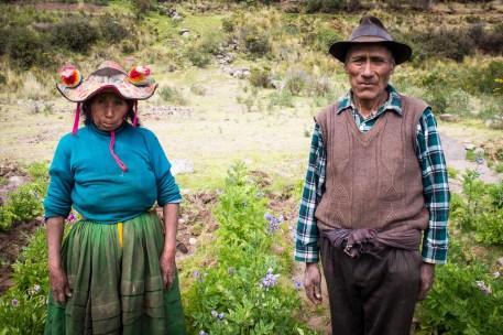 Campesinos am Lago Titicaca, Peru