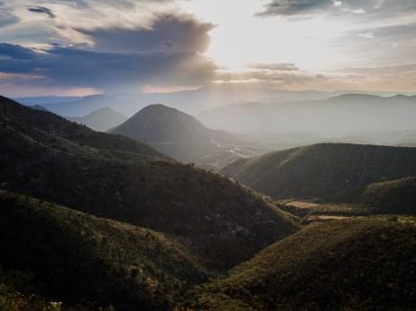Sonnenuntergang über der Sierra Gorda