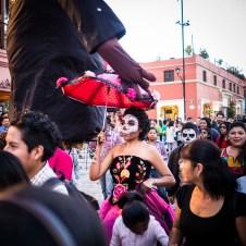 Szene am Tag der Toten in Oaxaca.