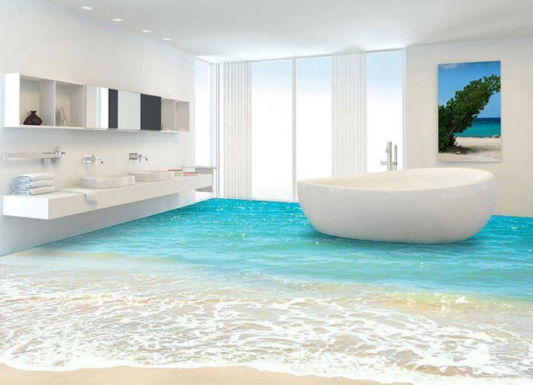 Bevorzugt 3d Boden Für Badezimmer | Badezimmer Boden Steine - Interior AZ96