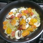 Veggies for an omelet