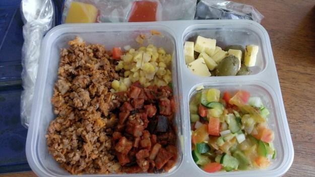 Taco beef and salad
