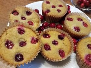 Festive cranberry muffins