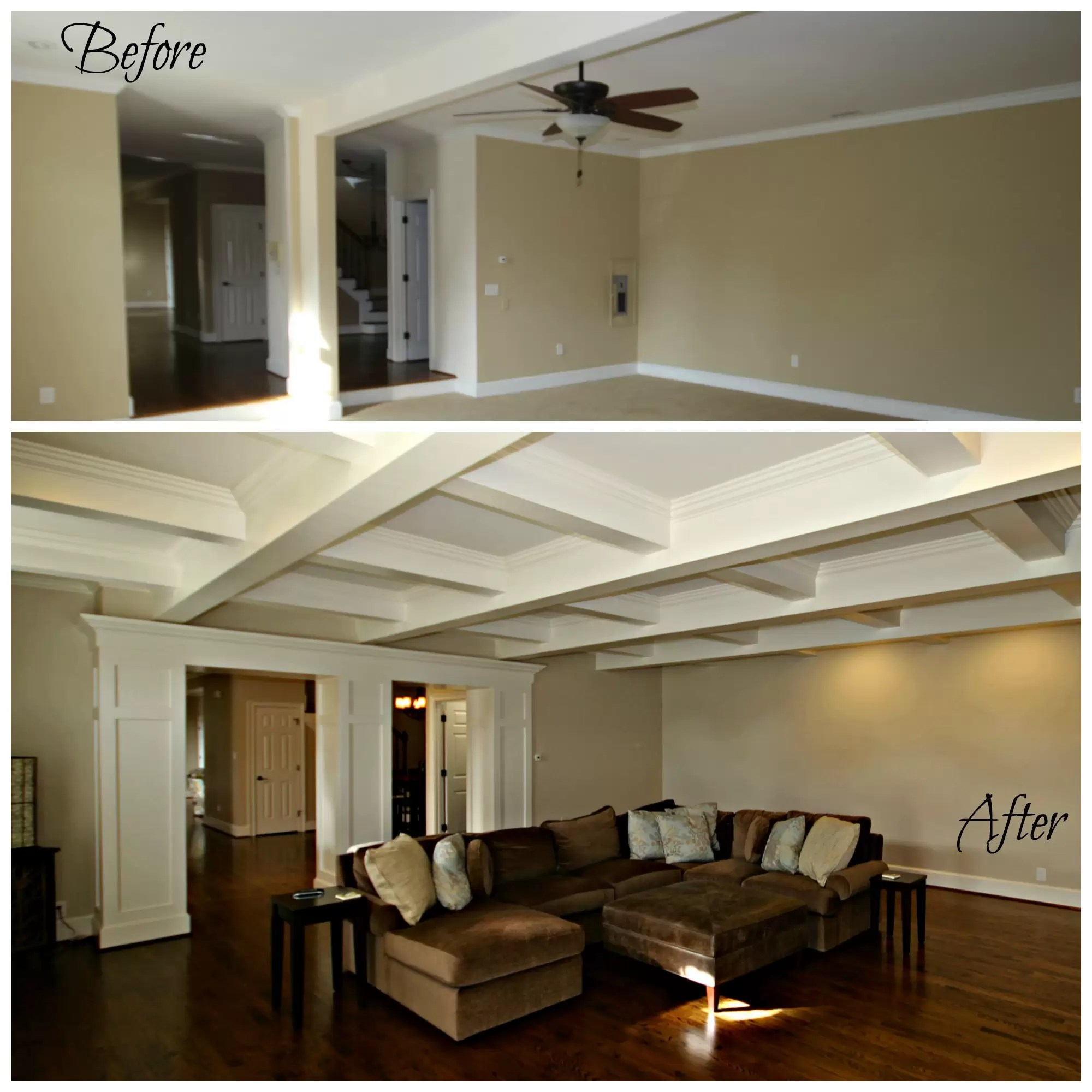 storage solutions for living rooms pictures of light grey look up! new coffered ceilings   guthmann construction