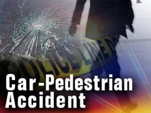 Pedestrian struck by vehicle on I-35 on-ramp