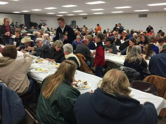 Pork chop dinner success for guthrie ffa local resident for Guthrie dining