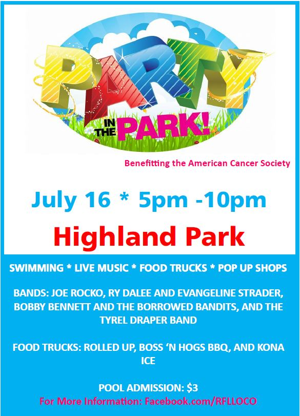 Relay for Life: Party in the Park on July 16