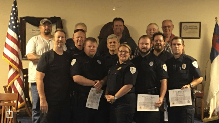 Cashion Police Department recognized by Masonic Lodge