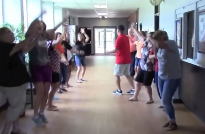 Video: Crescent school staff dances their way back to the classroom
