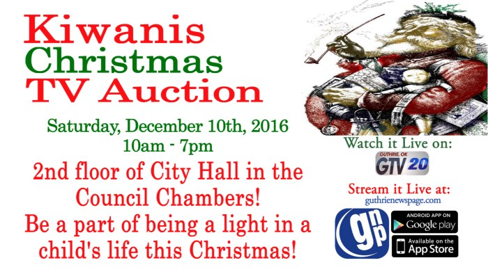 Watch Live: Kiwanis Christmas TV Auction