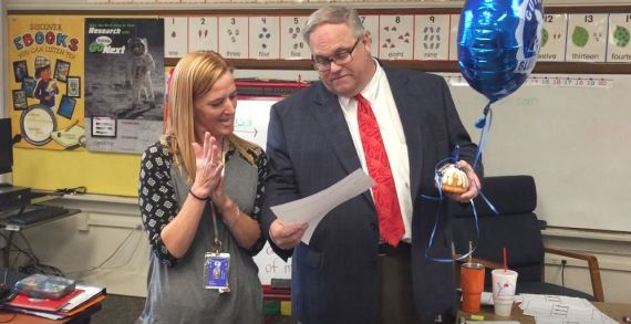 Video: Teachers surprised in their classroom with awarded grant money