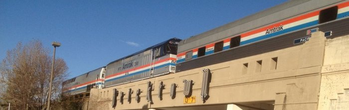 Amtrak Train making a stop in Guthrie; possible expansion coming