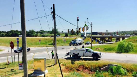 Traffic lights now functioning at Waterloo and I-35