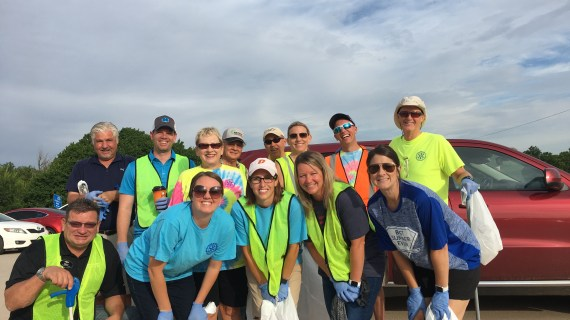 Guthrie Rotary participates in Adopt A Street program