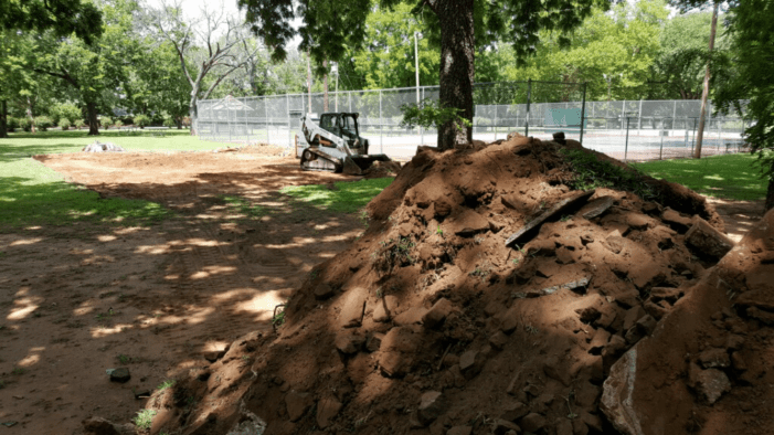 Groundwork underway at city parks; projects funded by the CIP