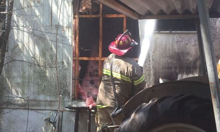 Trailer home catches fire on Friday
