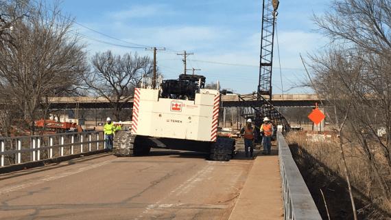 5th Street bridge heavily damaged by crane