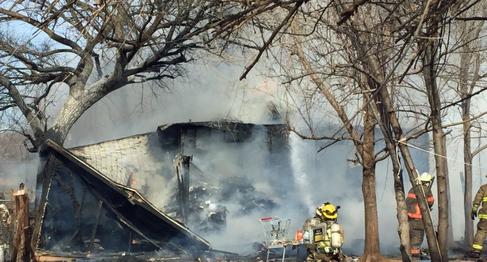 Video: Guthrie home destroyed by fire within minutes