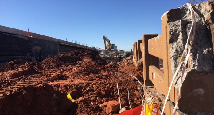 Video: Beginning of the end for viaduct bridge; demo work has begun