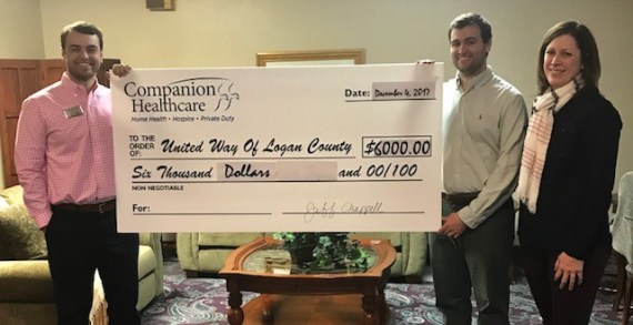Companion Healthcare makes donation to United Way