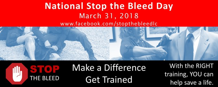 Video: Stop The Bleed set for Saturday morning