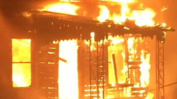 RV and house fire may be result of arson; man attempts to burn his hair