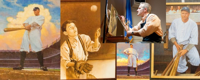 Video: Babe Ruth paintings now on display at Sports Museum