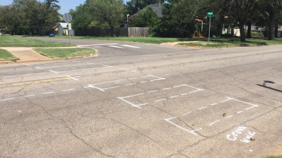 Road crews preparing streets for start of school year; turn lane on Noble Ave. coming soon